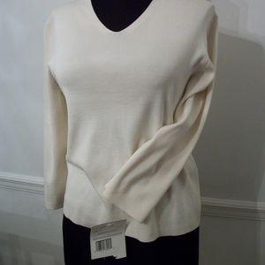 Liz Claibourne Collection Misses Knit Top Medium